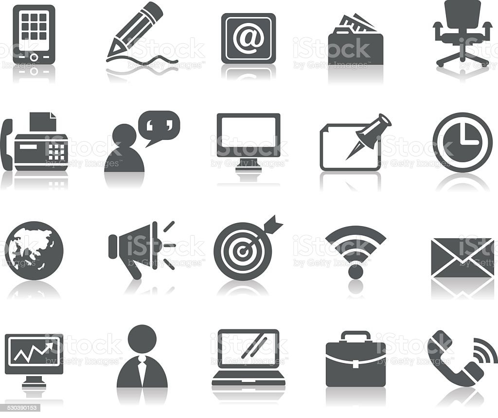 Business and Communication Icons vector art illustration