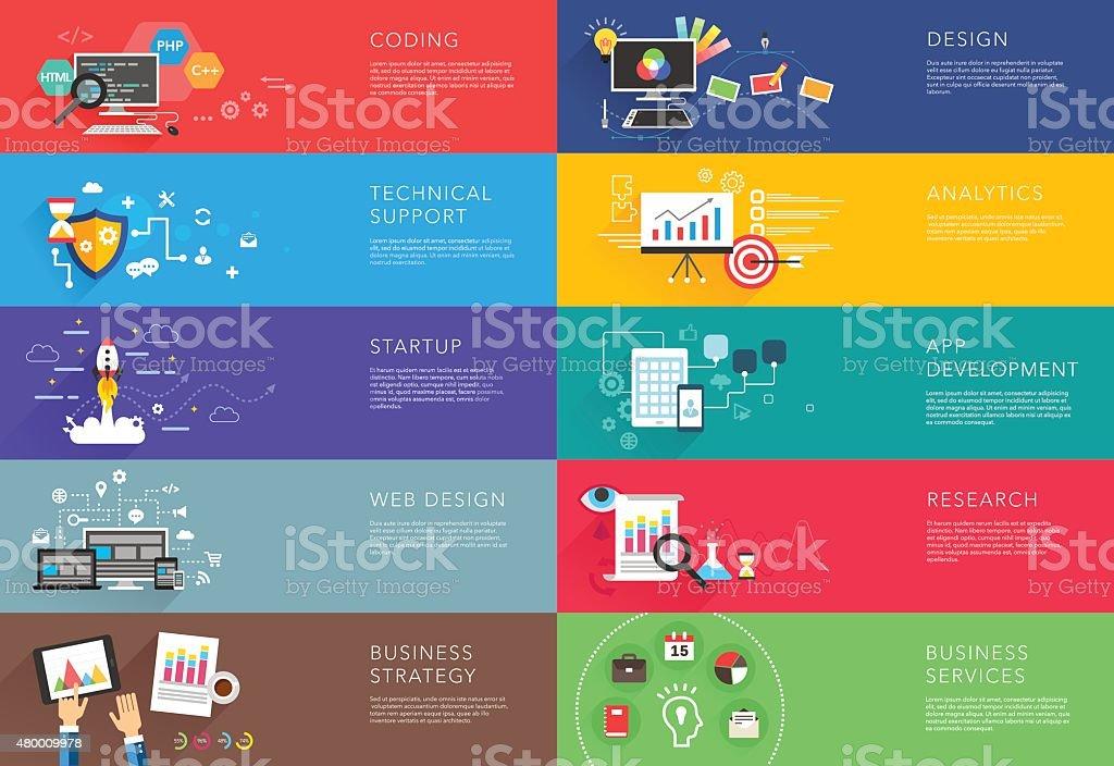 business and development templates vector vector art illustration