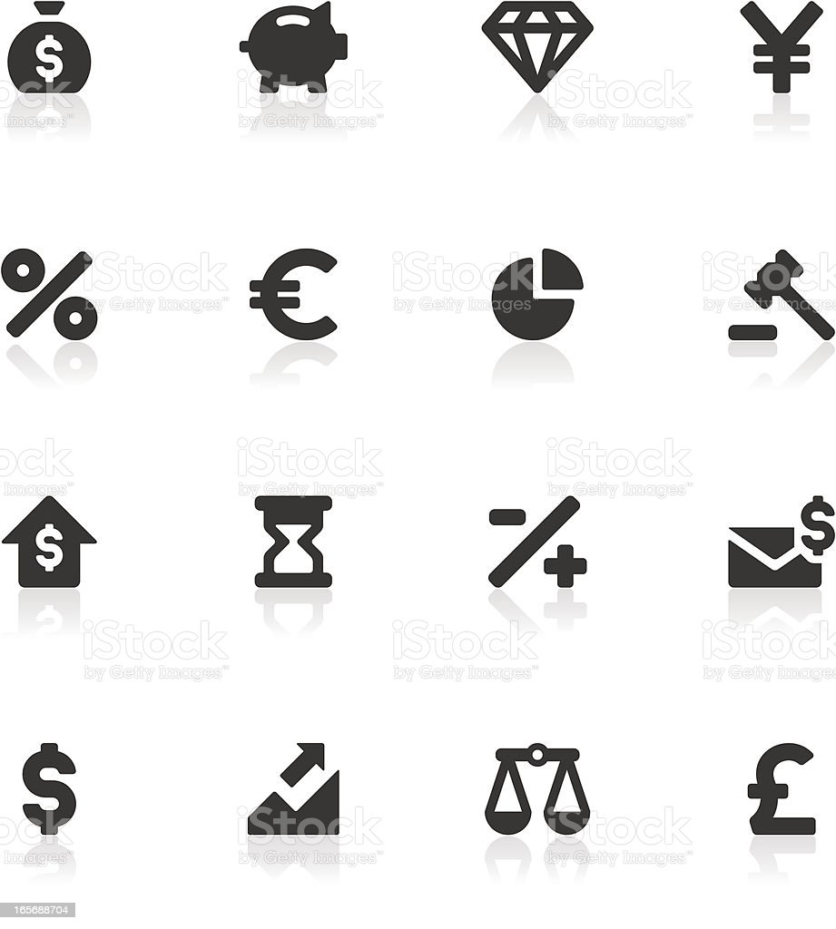 Business and Economy Icons royalty-free stock vector art