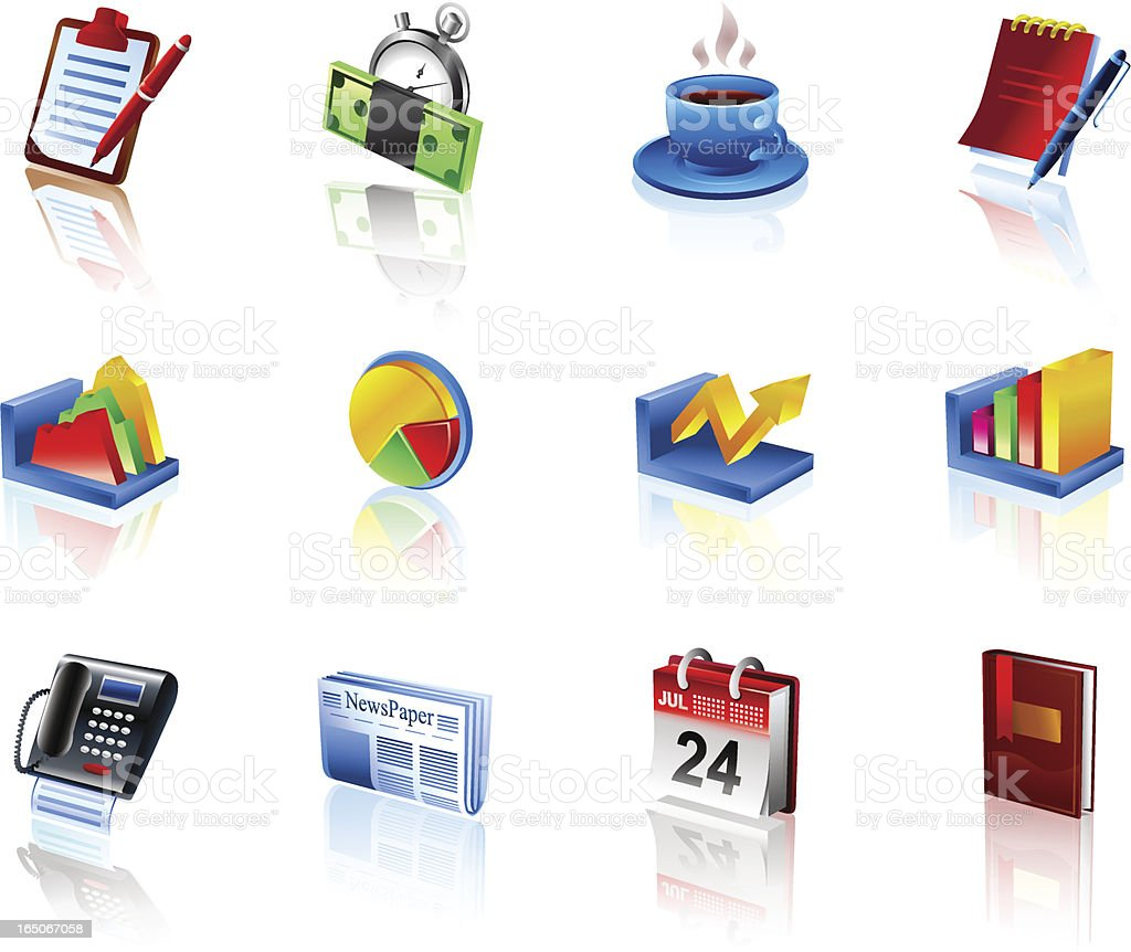 Business and Finance Icons 1 | color3d royalty-free stock vector art