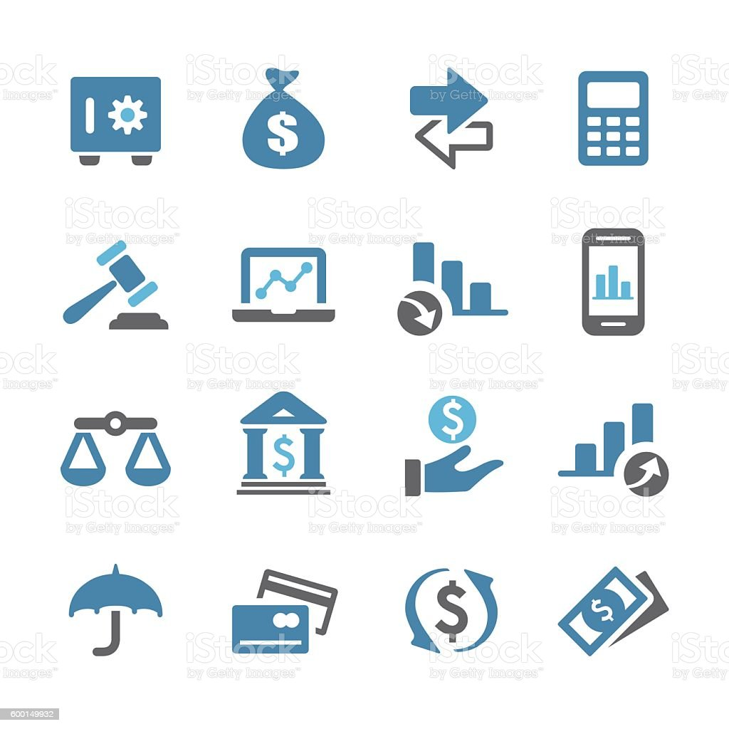 Business and Finance Icons - Conc Series vector art illustration