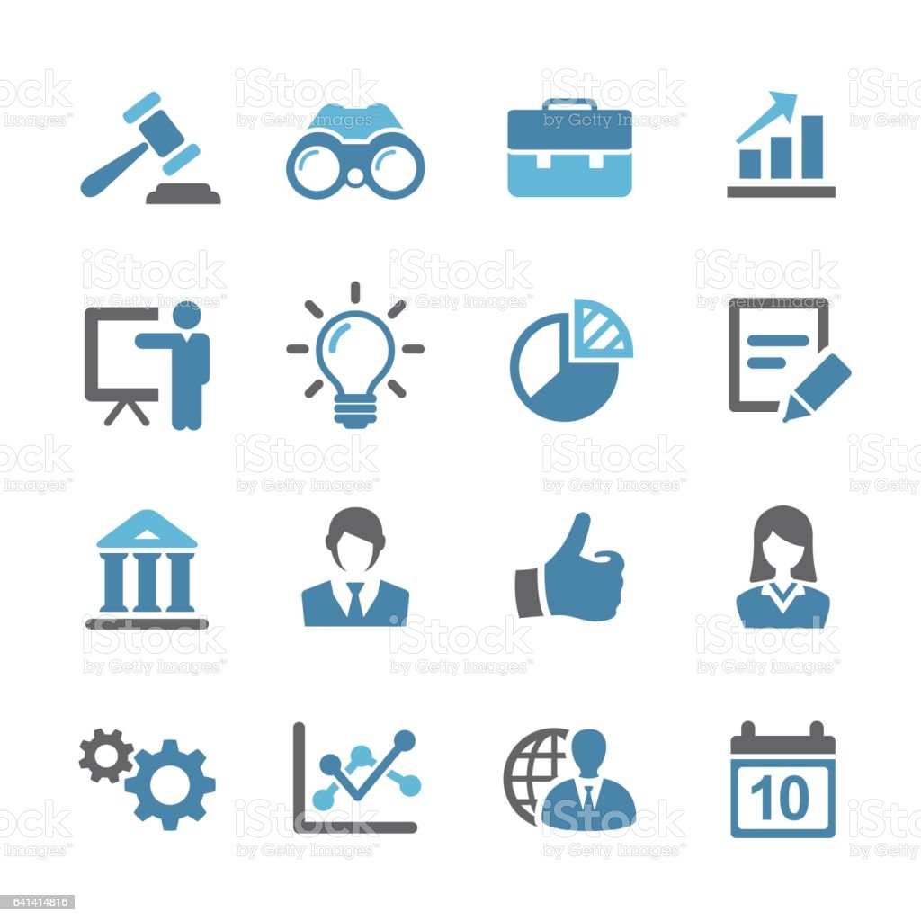 Business and Finance Icons Set - Conc Series vector art illustration