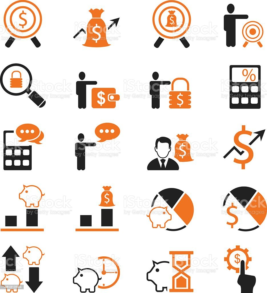 Business and Finance Icons set,Vector vector art illustration