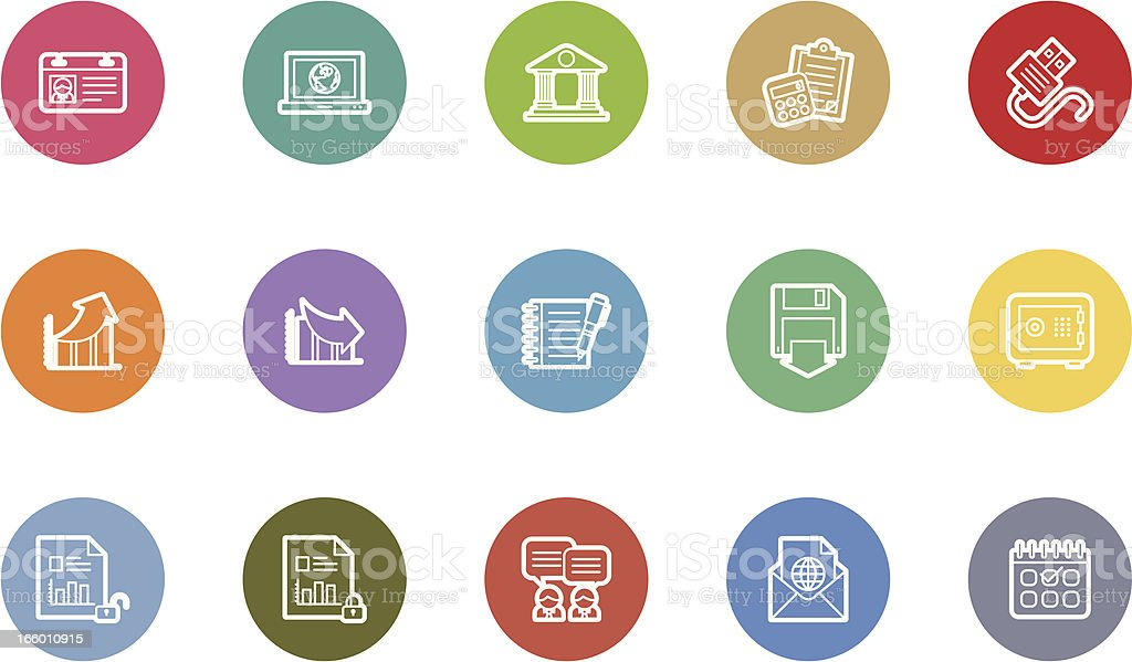 business and finance icons royalty-free stock vector art
