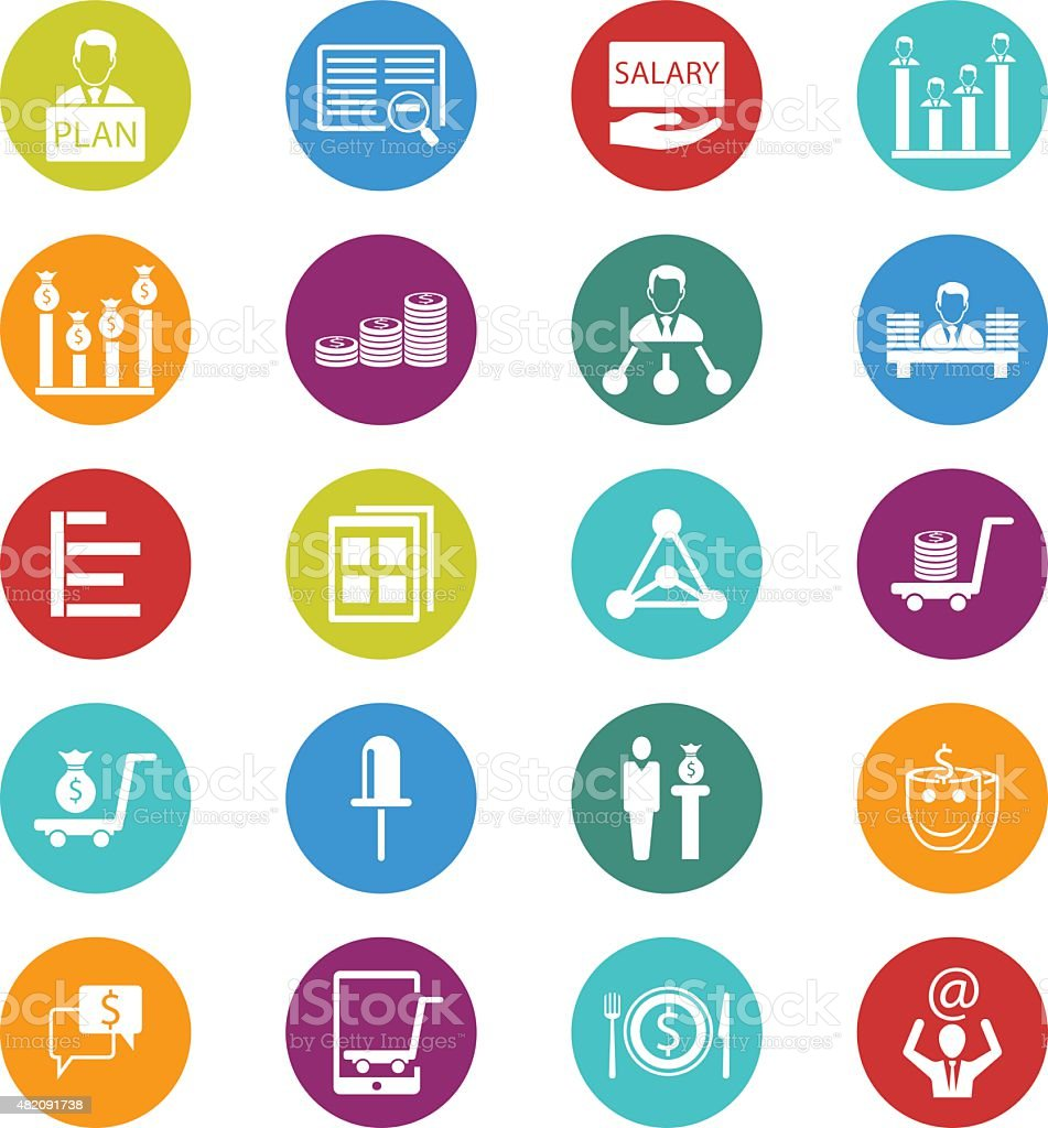 Business and finance icons vector art illustration