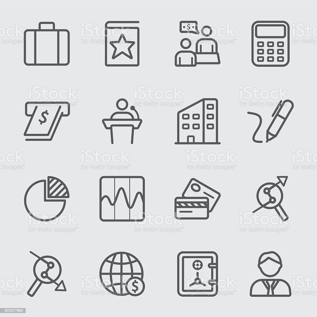 Business and Finance line icon vector art illustration
