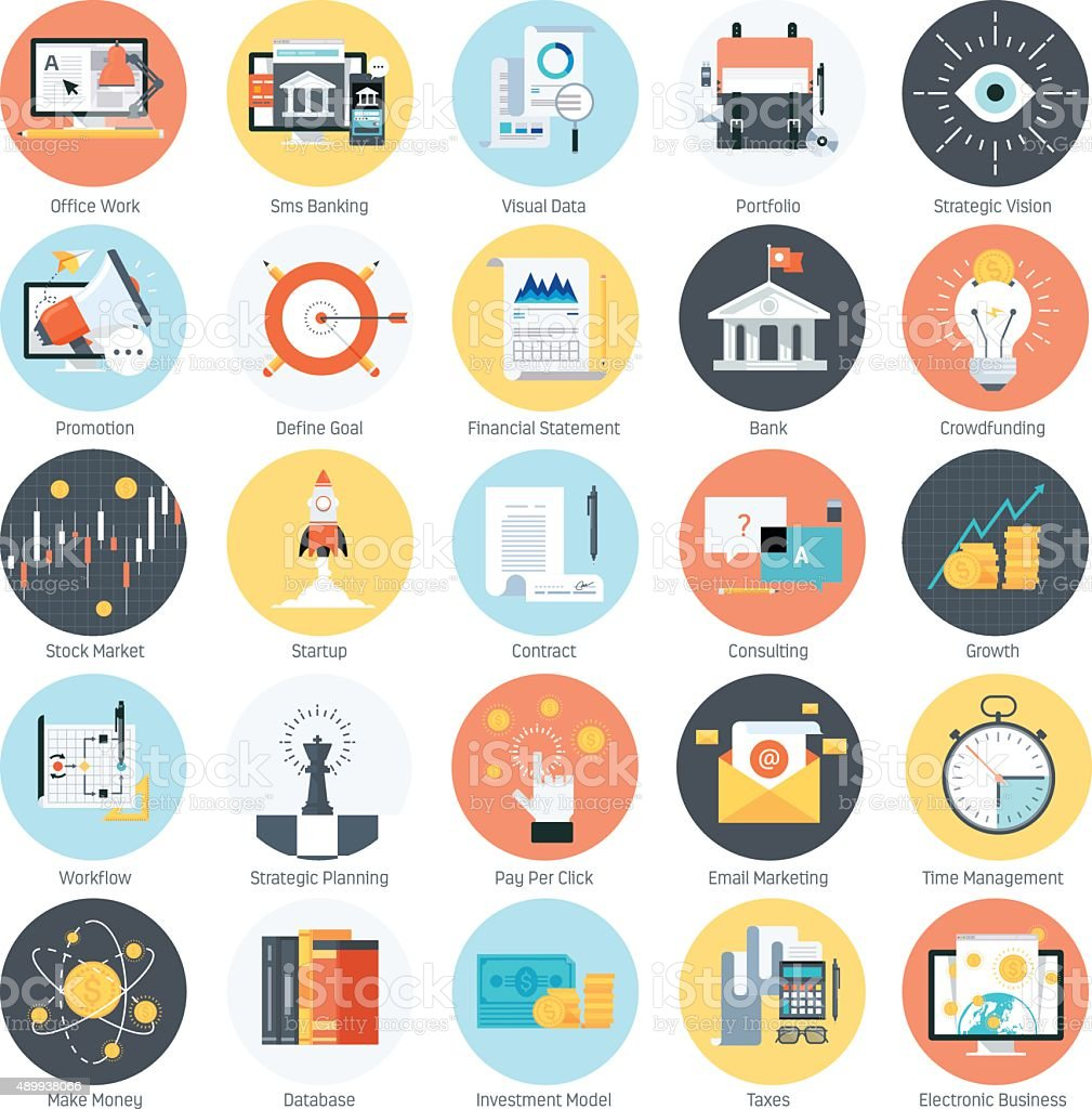 Business and finance theme, flat style, colorful, vector icon se vector art illustration