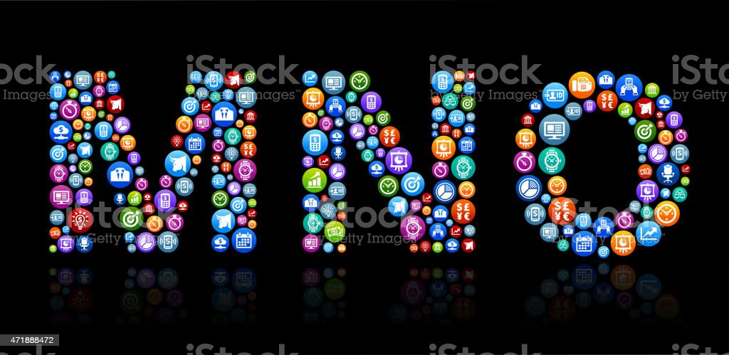 MNO Business and Finance Vector Buttons Background vector art illustration