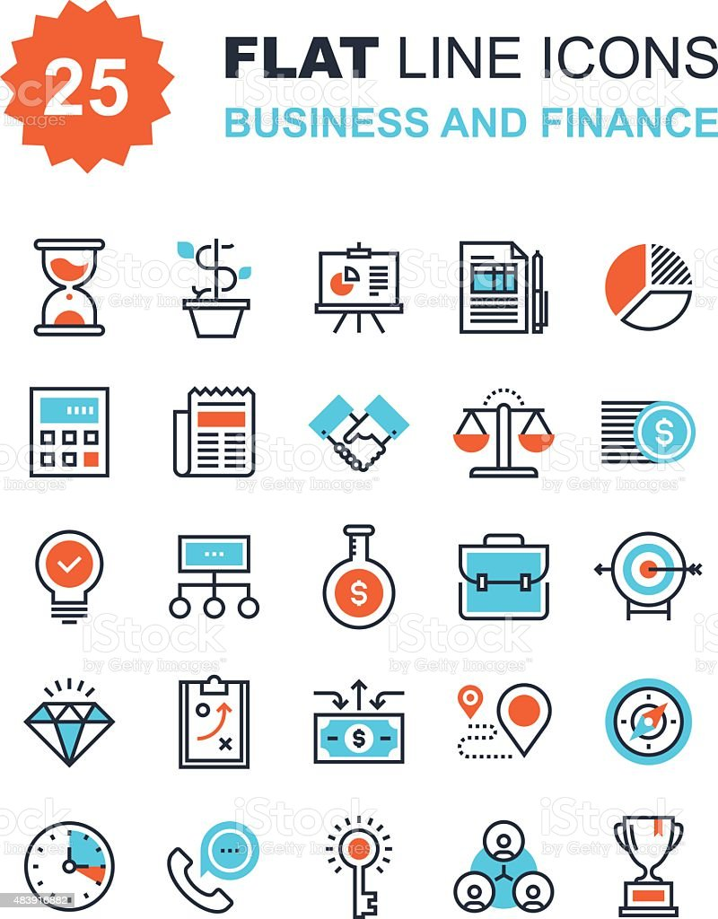Business and Finance vector art illustration