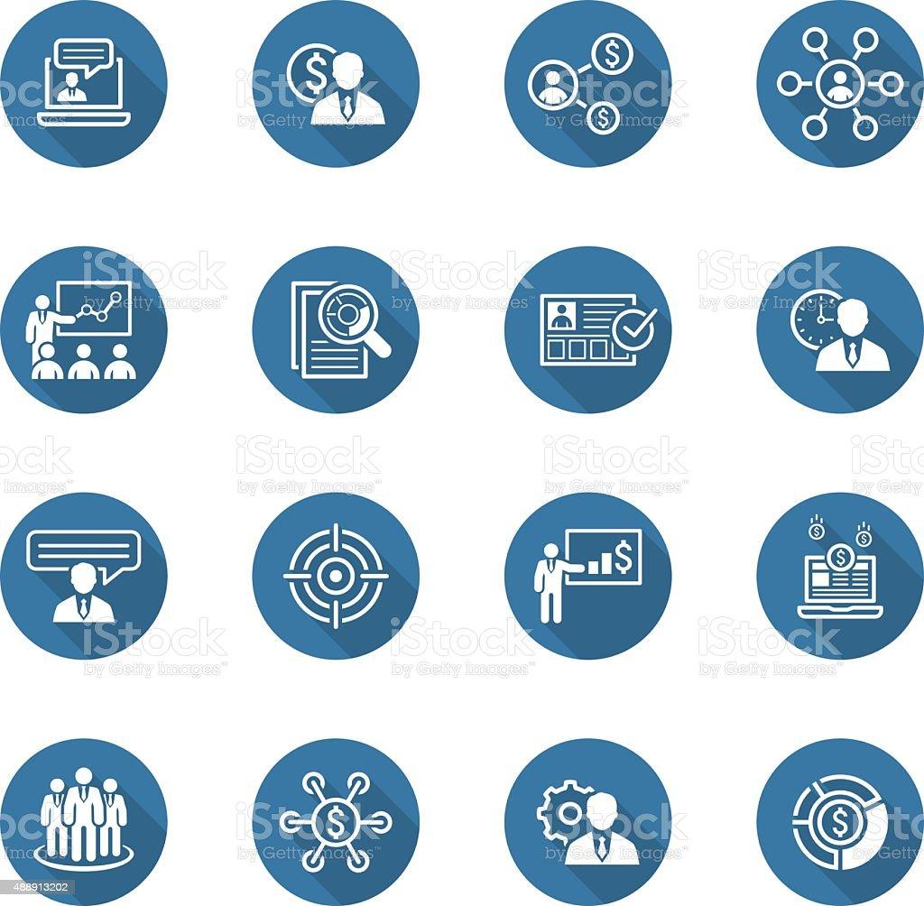 Business and Finances Icons Set. Flat Design. vector art illustration