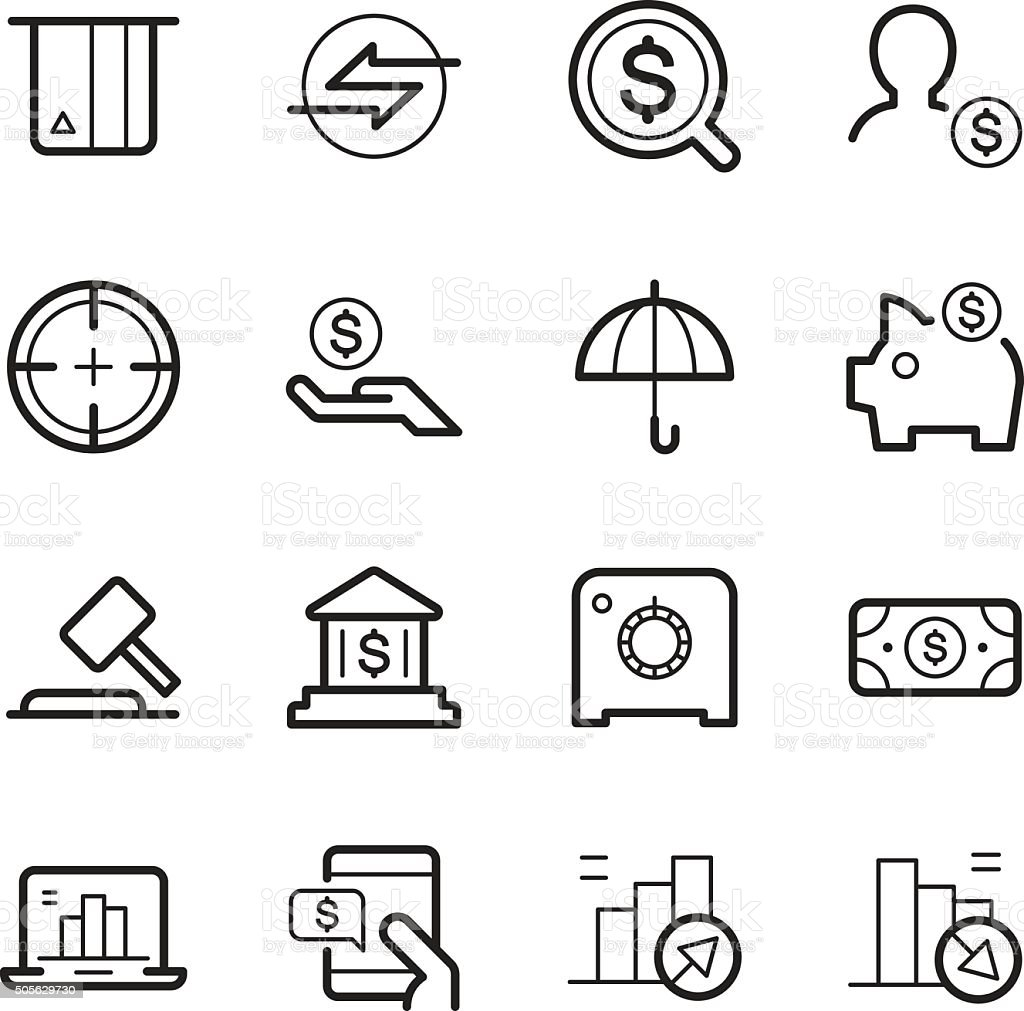 business and finances icons vector art illustration