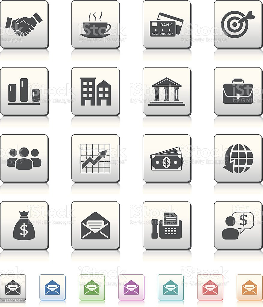 business and financial icons vector art illustration