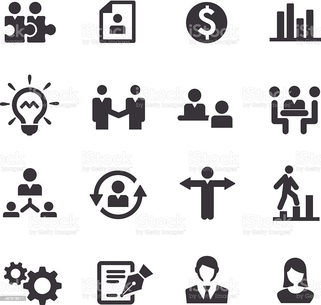 Business and Human Resource Icons - Acme Series vector art illustration