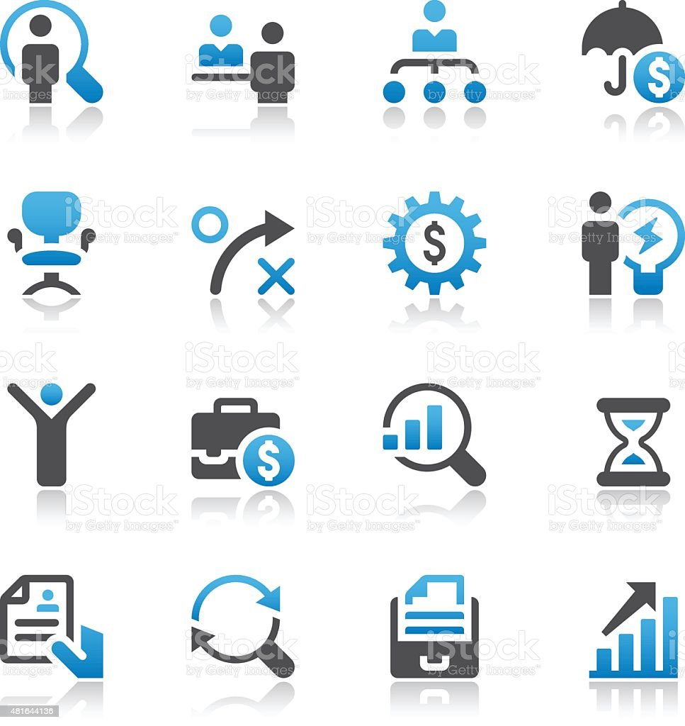 Business and Human Resources Icon Set vector art illustration