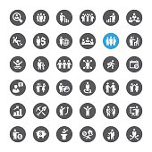 Business and Human Resources related vector icons