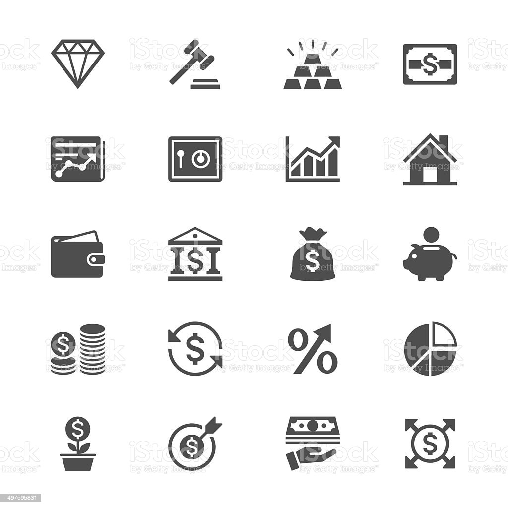 Business and investment flat icons vector art illustration