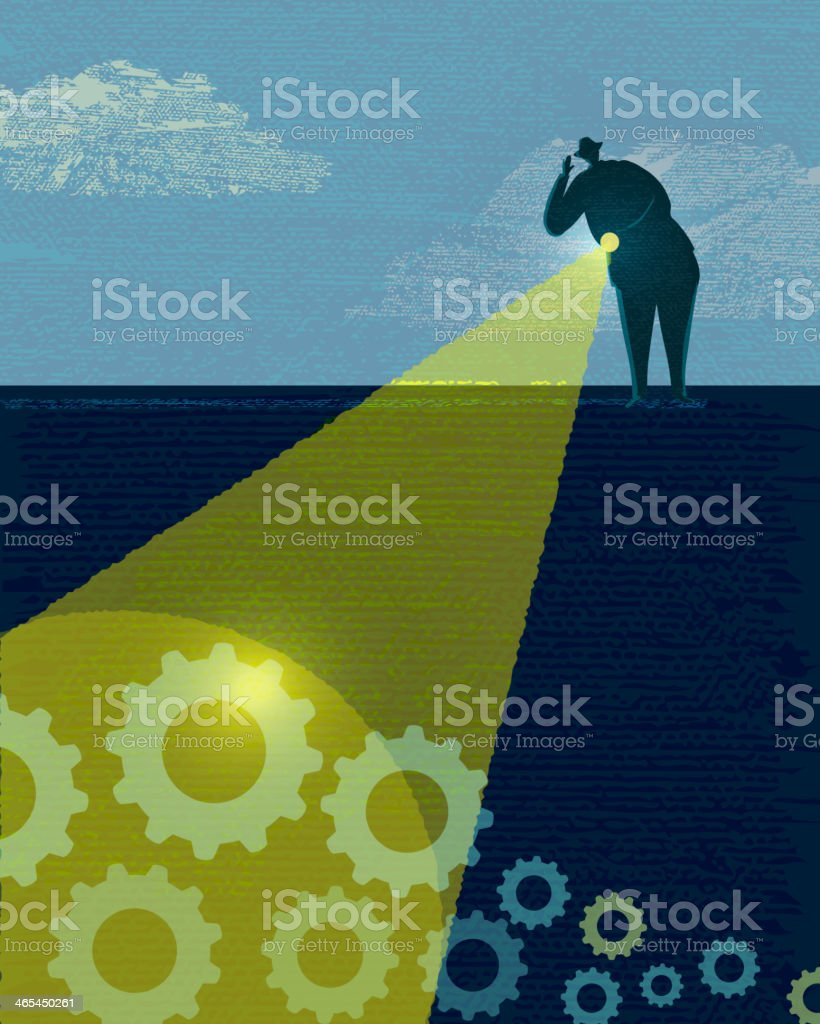 Business and investment searching vector art illustration