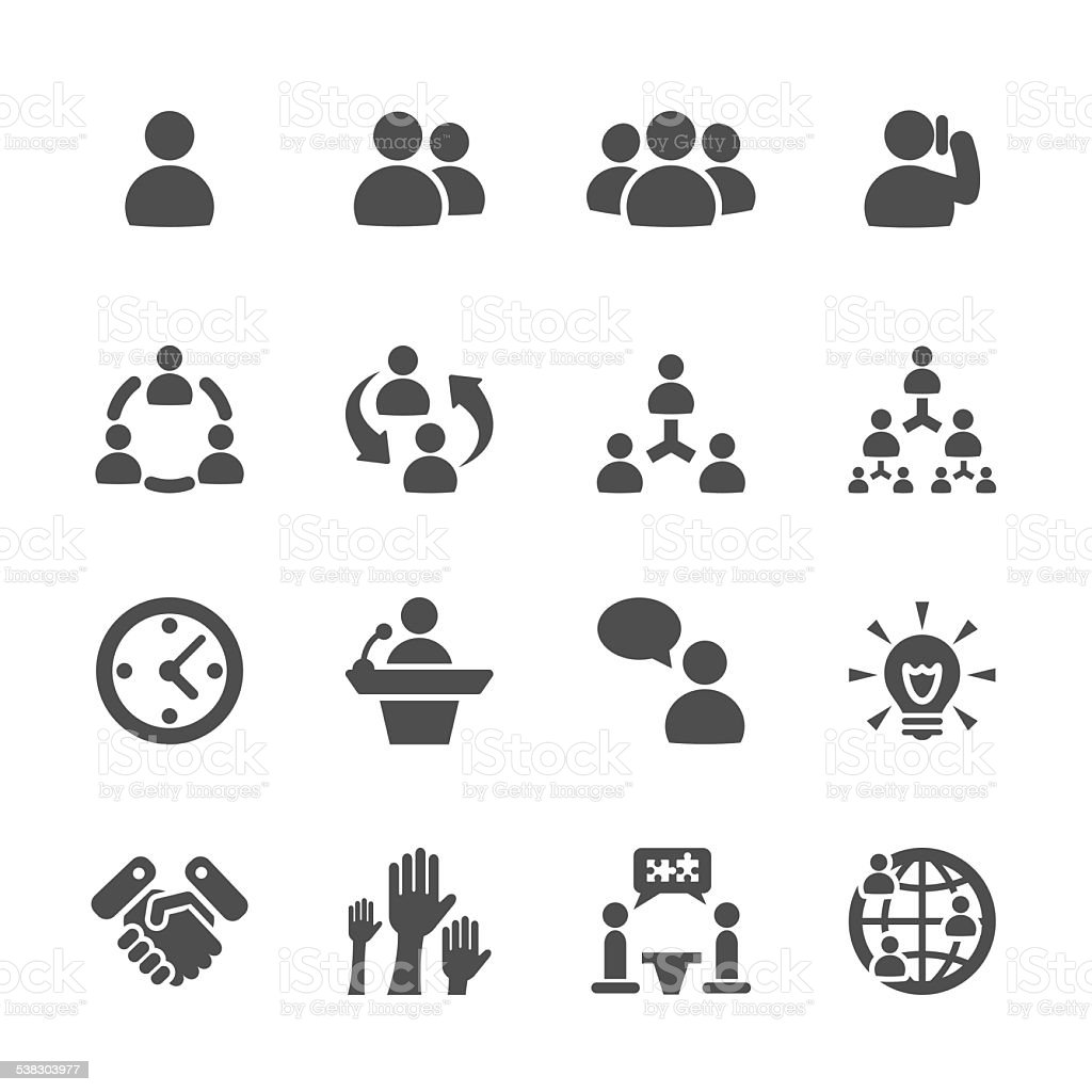 business and management icon set 7, vector eps10 vector art illustration