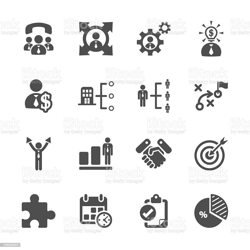 business and management icon set, vector eps10 vector art illustration