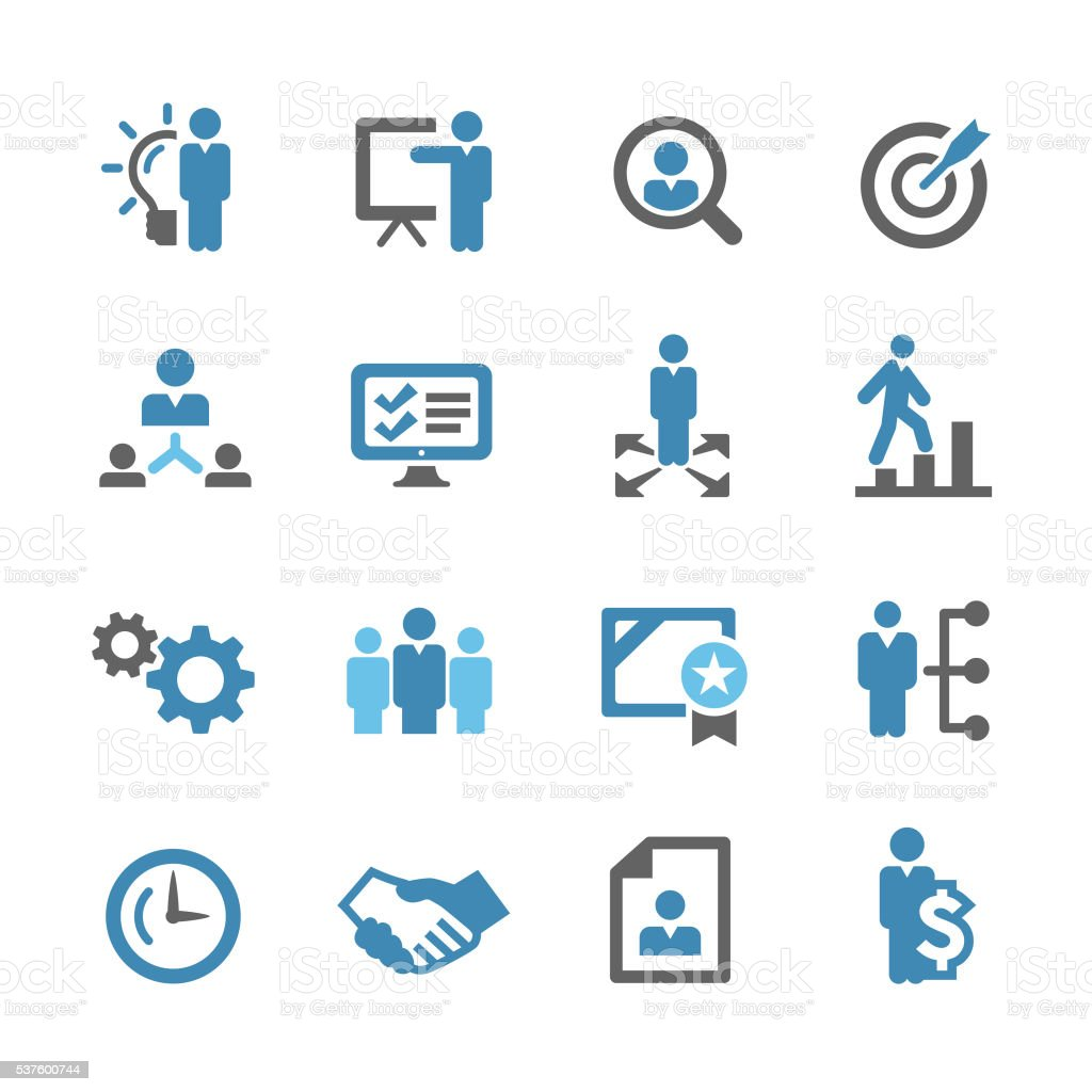 Business and Management Icons - Conc Series vector art illustration
