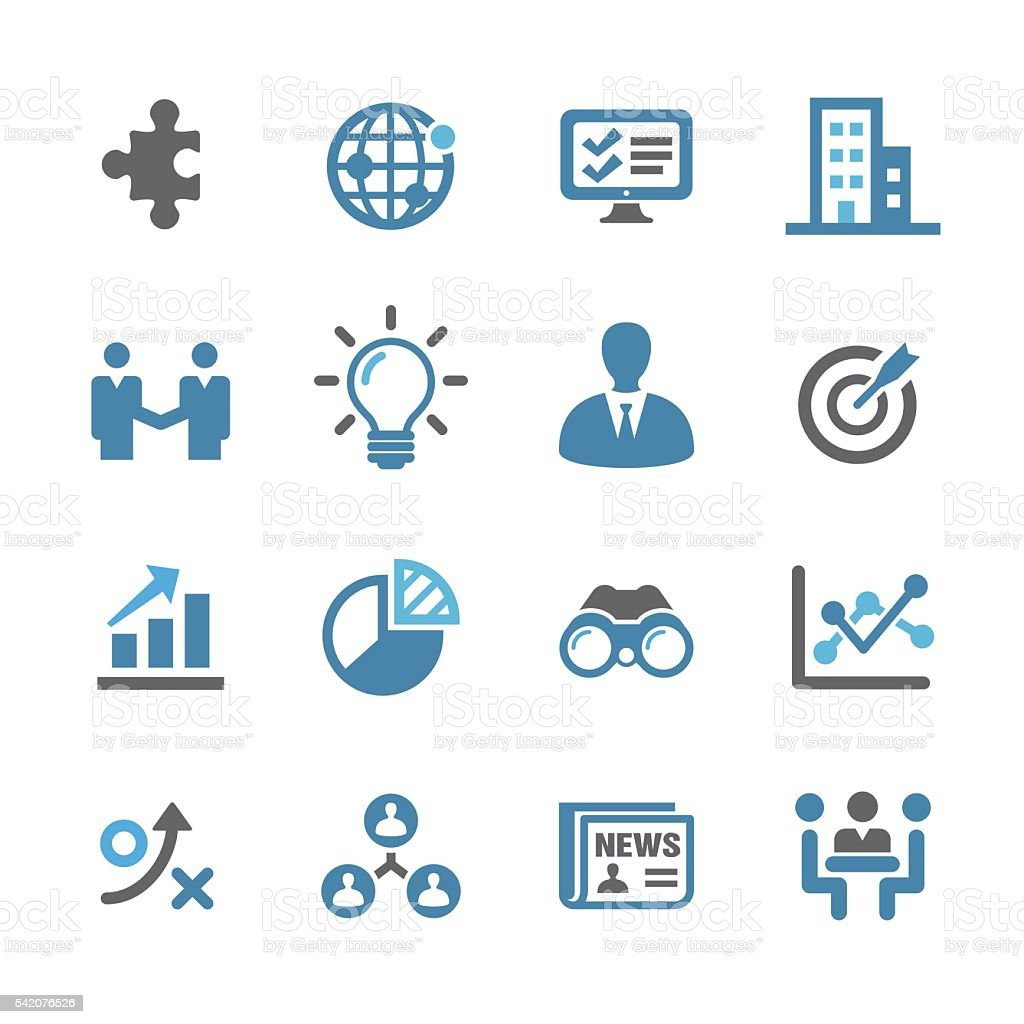Business and Management Icons Set - Conc Series vector art illustration