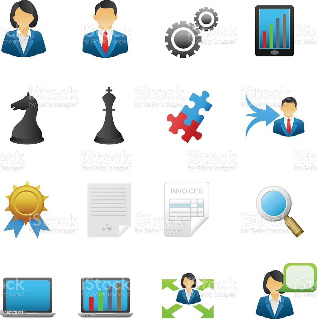 Business and management icons royalty-free stock vector art