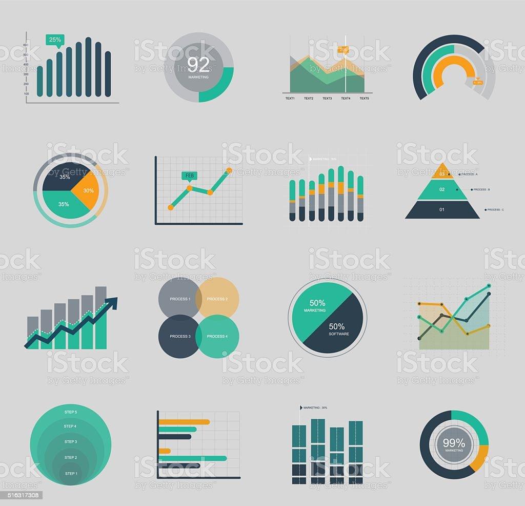 Geschäft und Markt-Symbol – Vektorgrafik