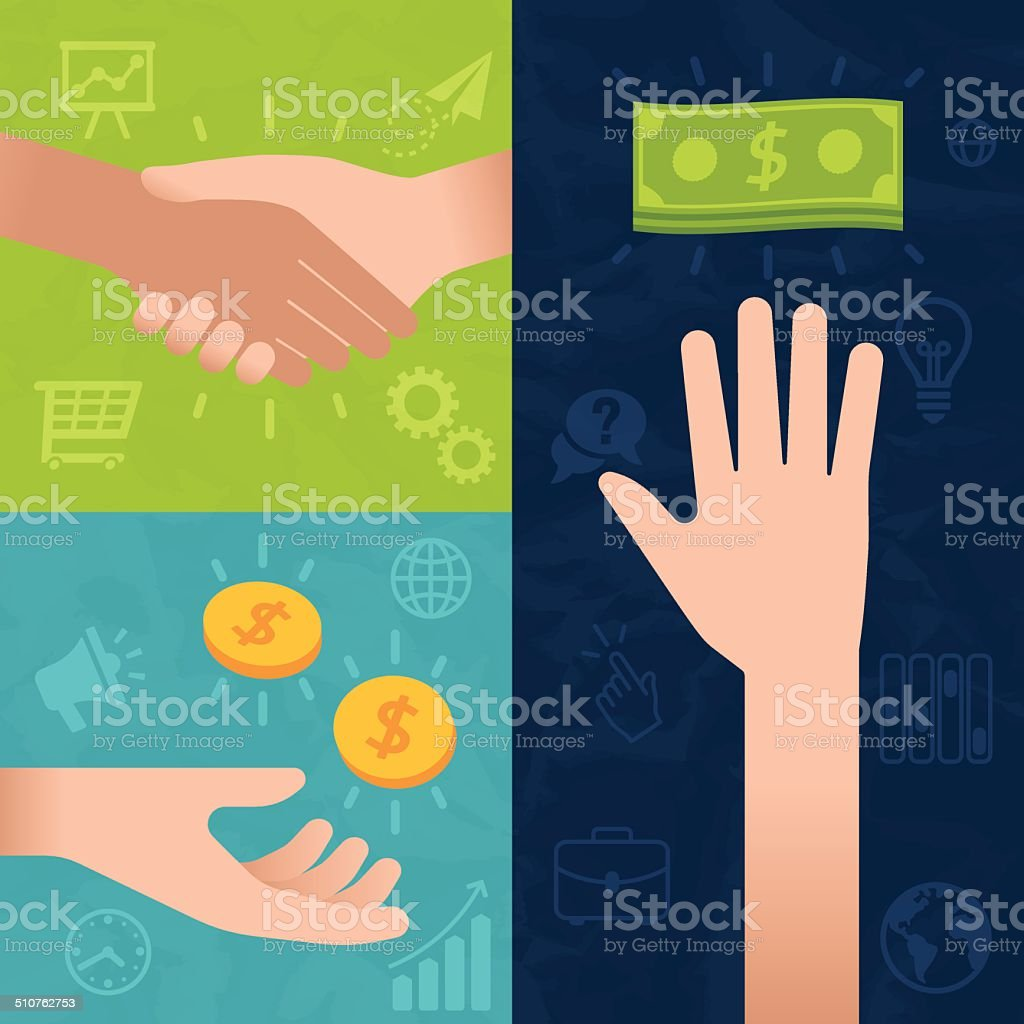 Business and Money Transactions vector art illustration