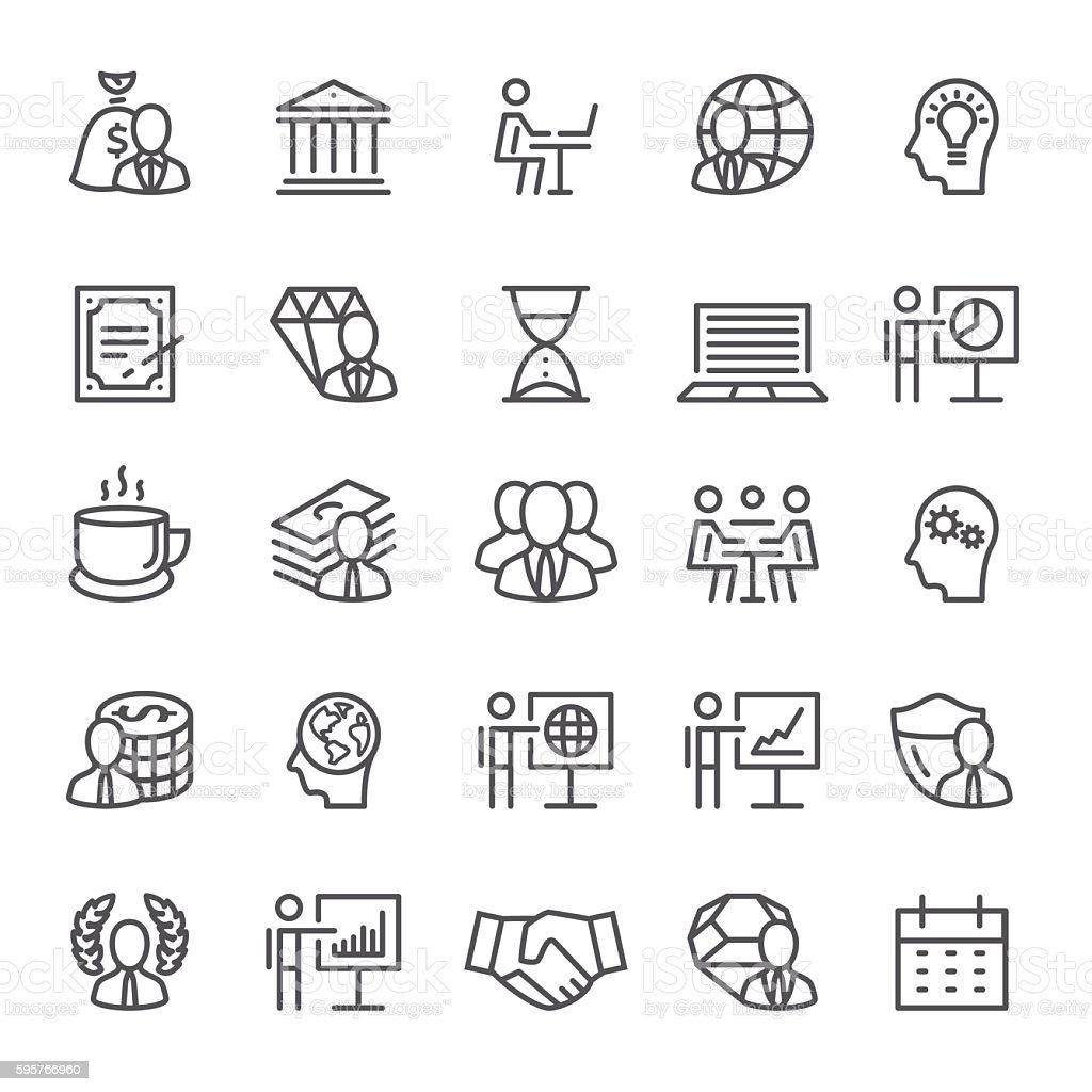 Business and  Occupation Icons vector art illustration