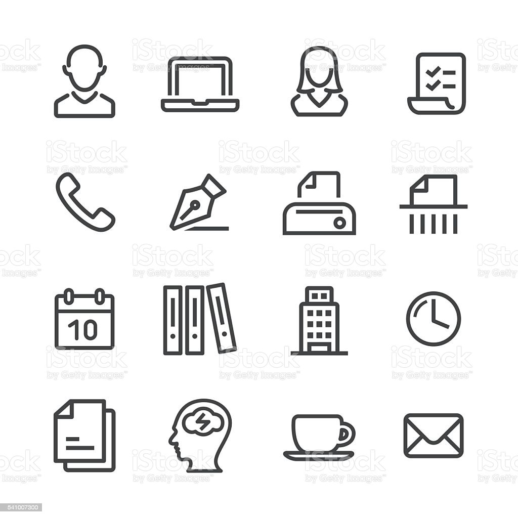 Business and Office Icon - Line Series vector art illustration