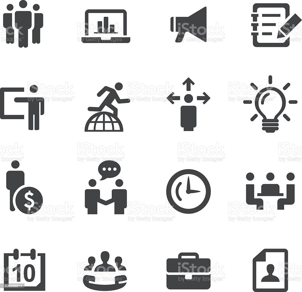 Business and Office Icons - Acme Series vector art illustration