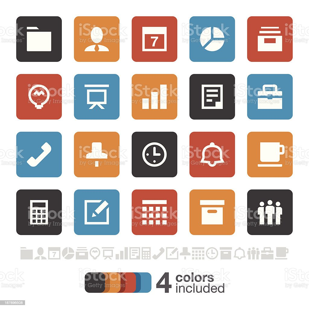 Business and Office icons | Brooklyn Series royalty-free stock vector art