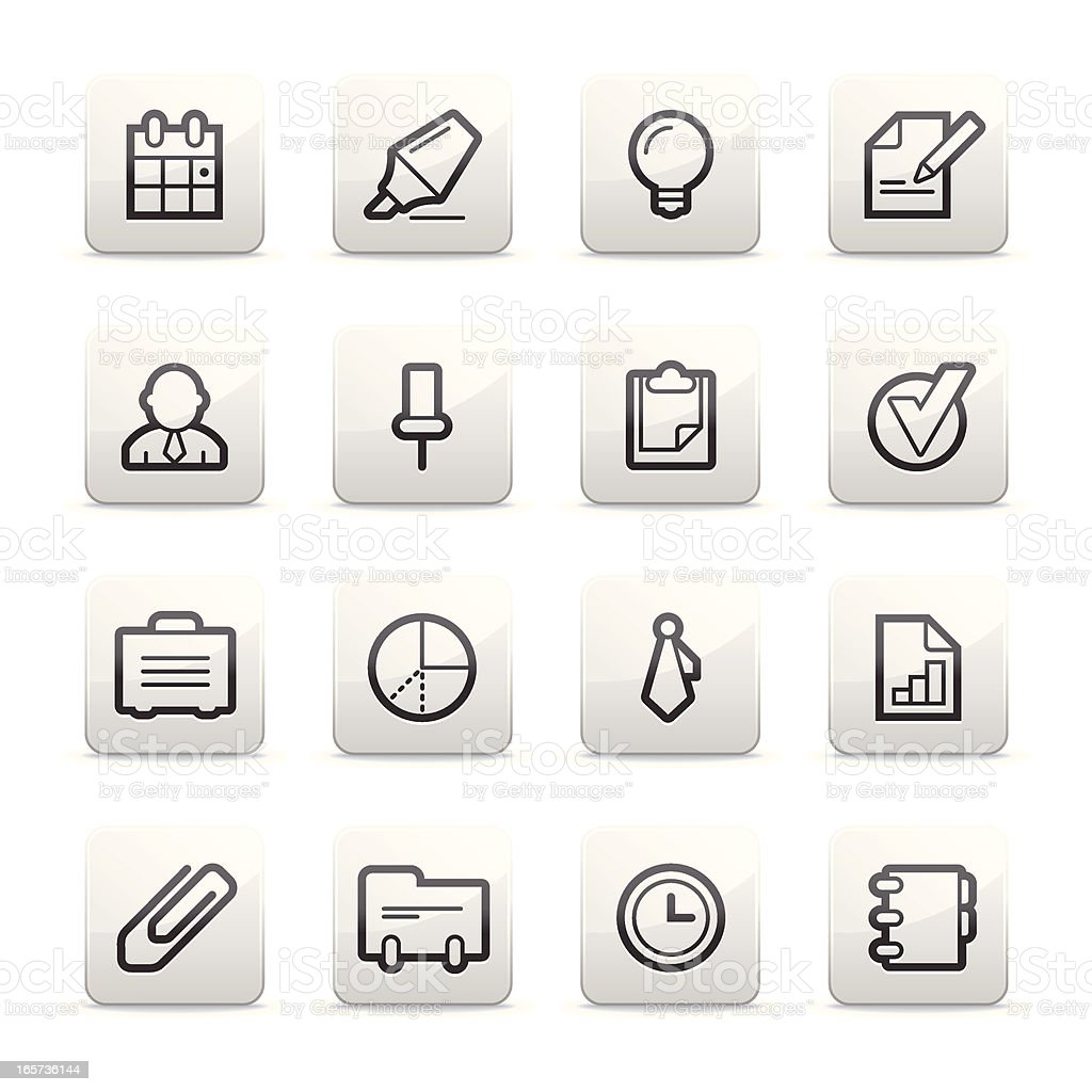 Business and office icons | Contour B series royalty-free stock vector art