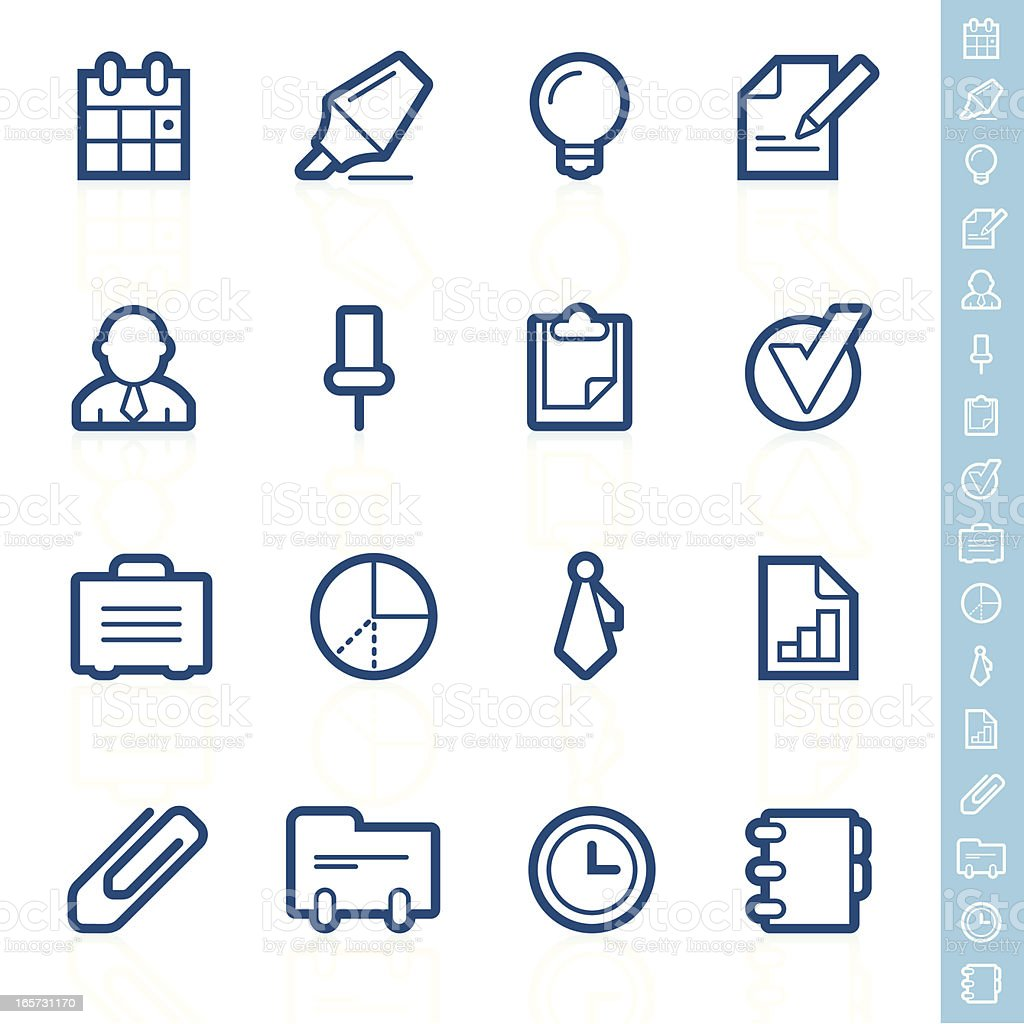 Business and office icons | Contour series royalty-free stock vector art