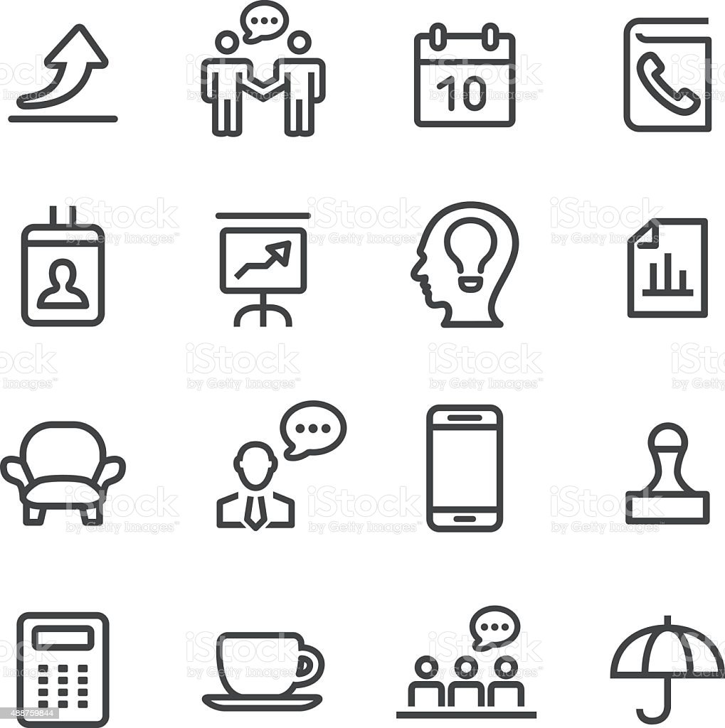 Business and Office Icons - Line Series vector art illustration