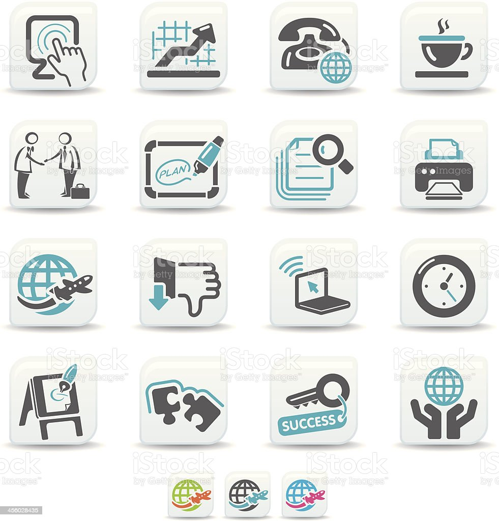business and office icons | simicoso collection vector art illustration