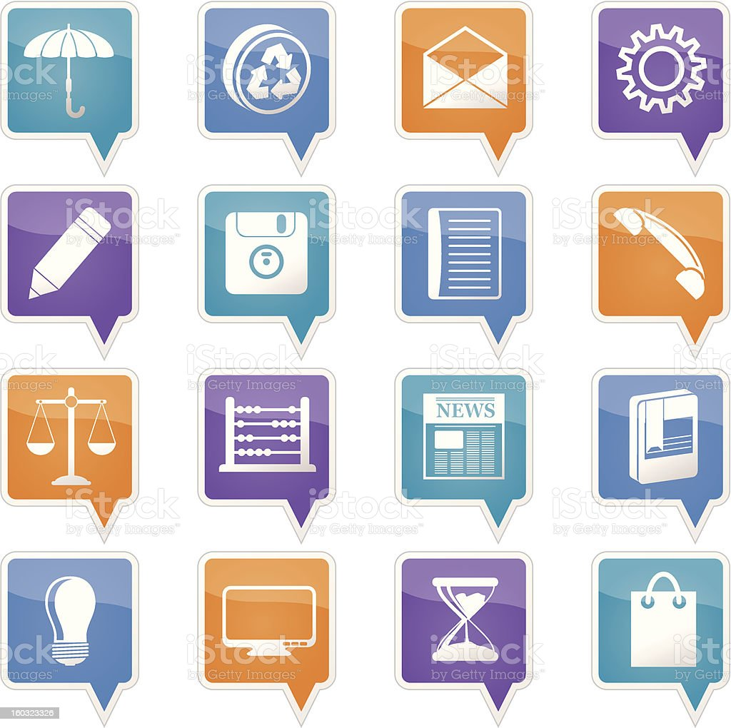 Business and Office internet Icons royalty-free stock vector art