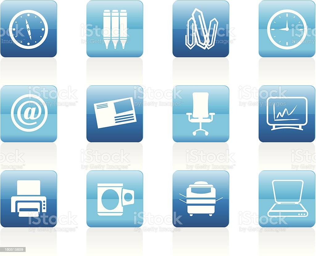 Business and Office tools icons royalty-free stock photo