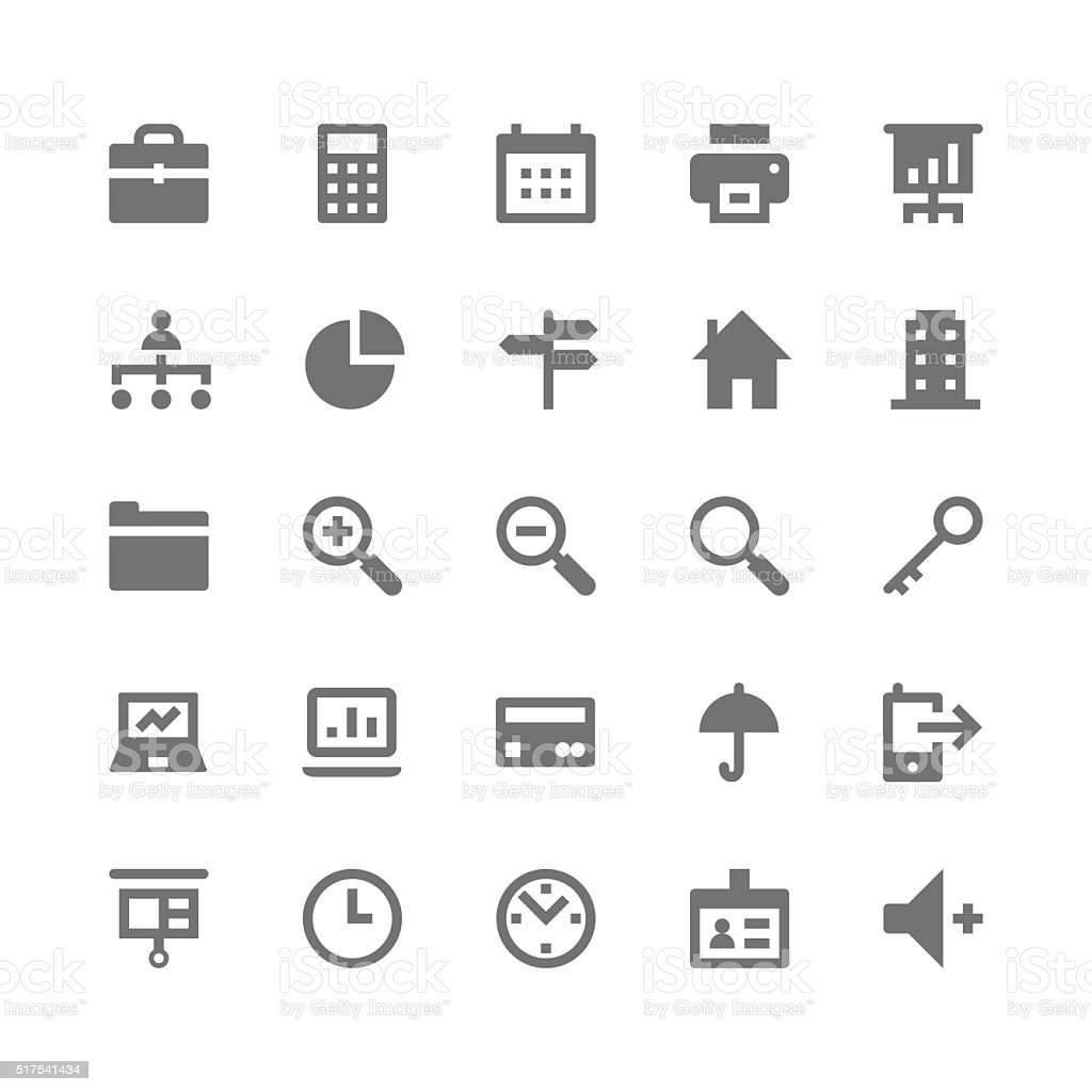 Business and Office Vector Icons 1 vector art illustration