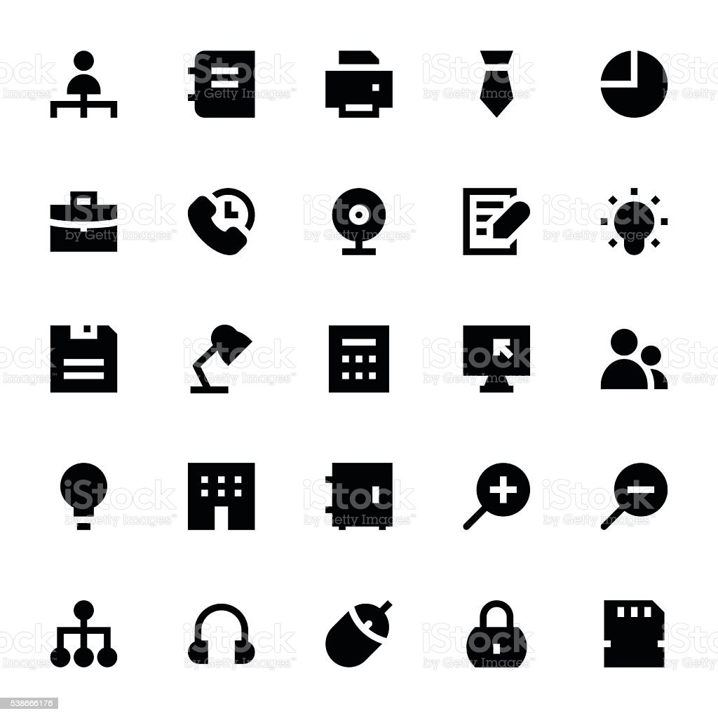 Business and Office Vector Icons 2 vector art illustration