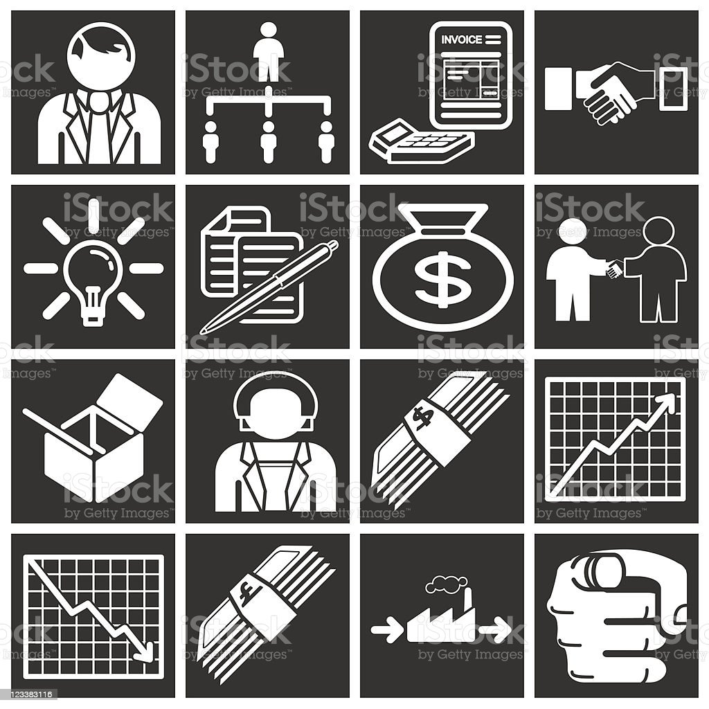 Business and Organisation Icons royalty-free stock vector art
