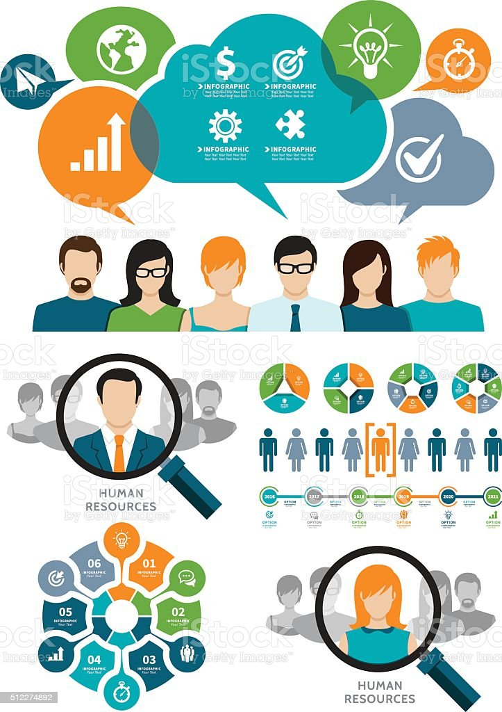Business and Recruitment Concept vector art illustration