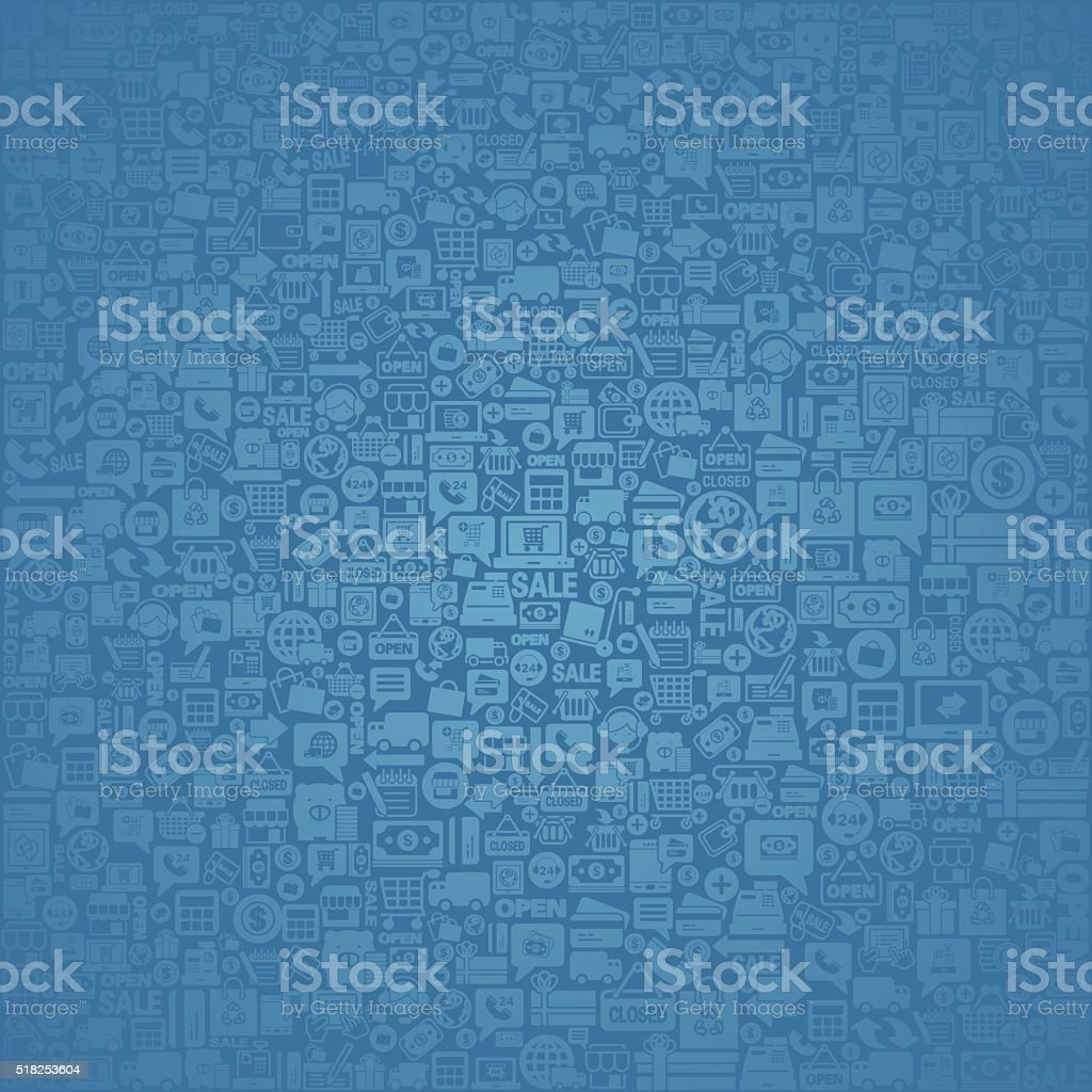 Business and shopping icon background vector art illustration
