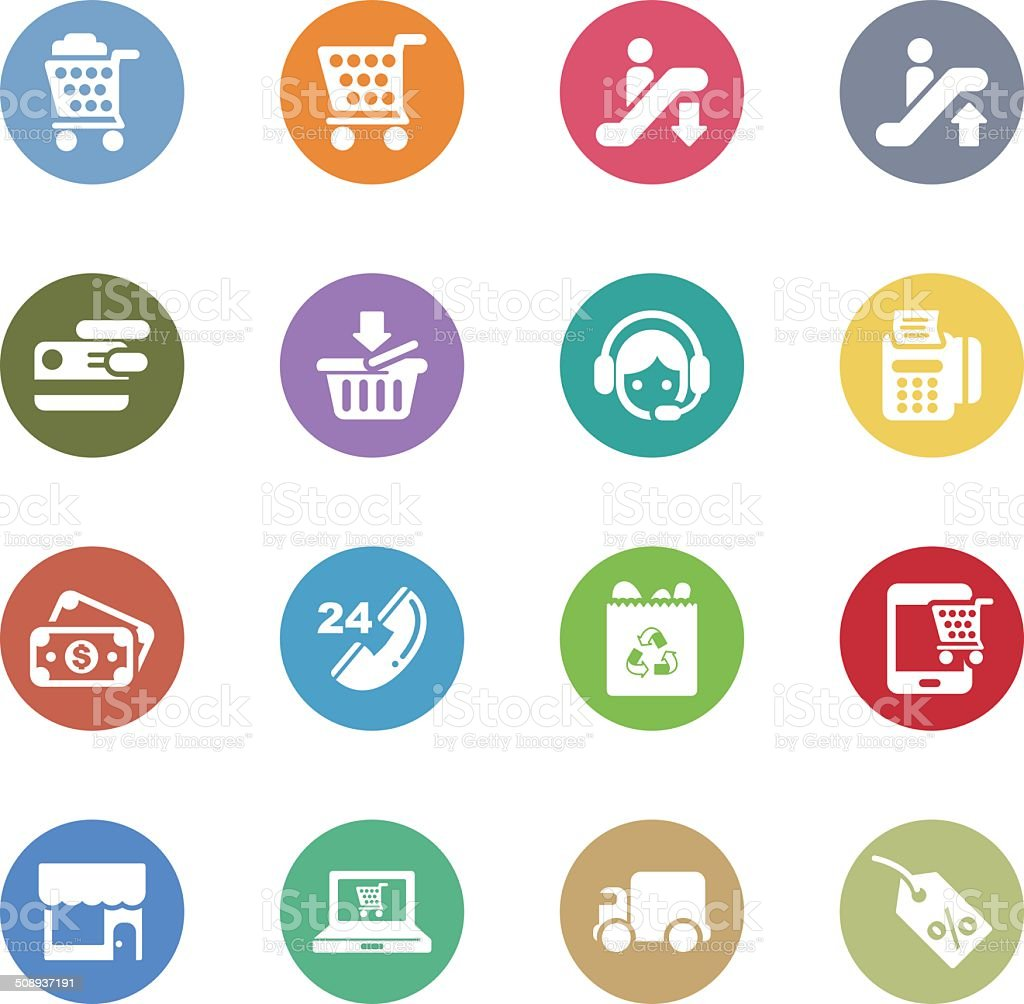 business and shopping icons royalty-free stock vector art