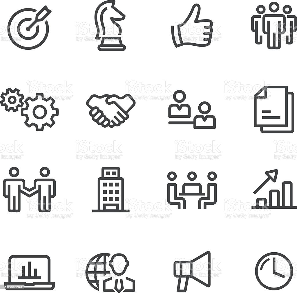 Business and Strategy Icons - Line Series vector art illustration