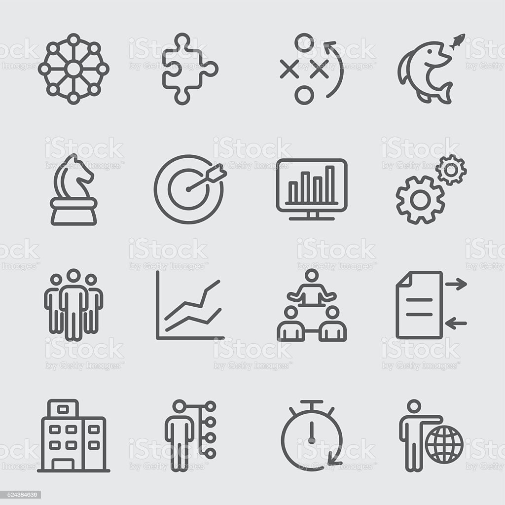Business and Strategy line icon vector art illustration