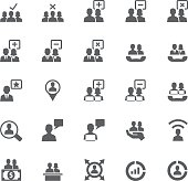 Business and user icon set