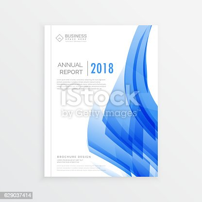 Business Annual Report Cover Page Template In A4 Print Size stock – Annual Report Cover Page Template