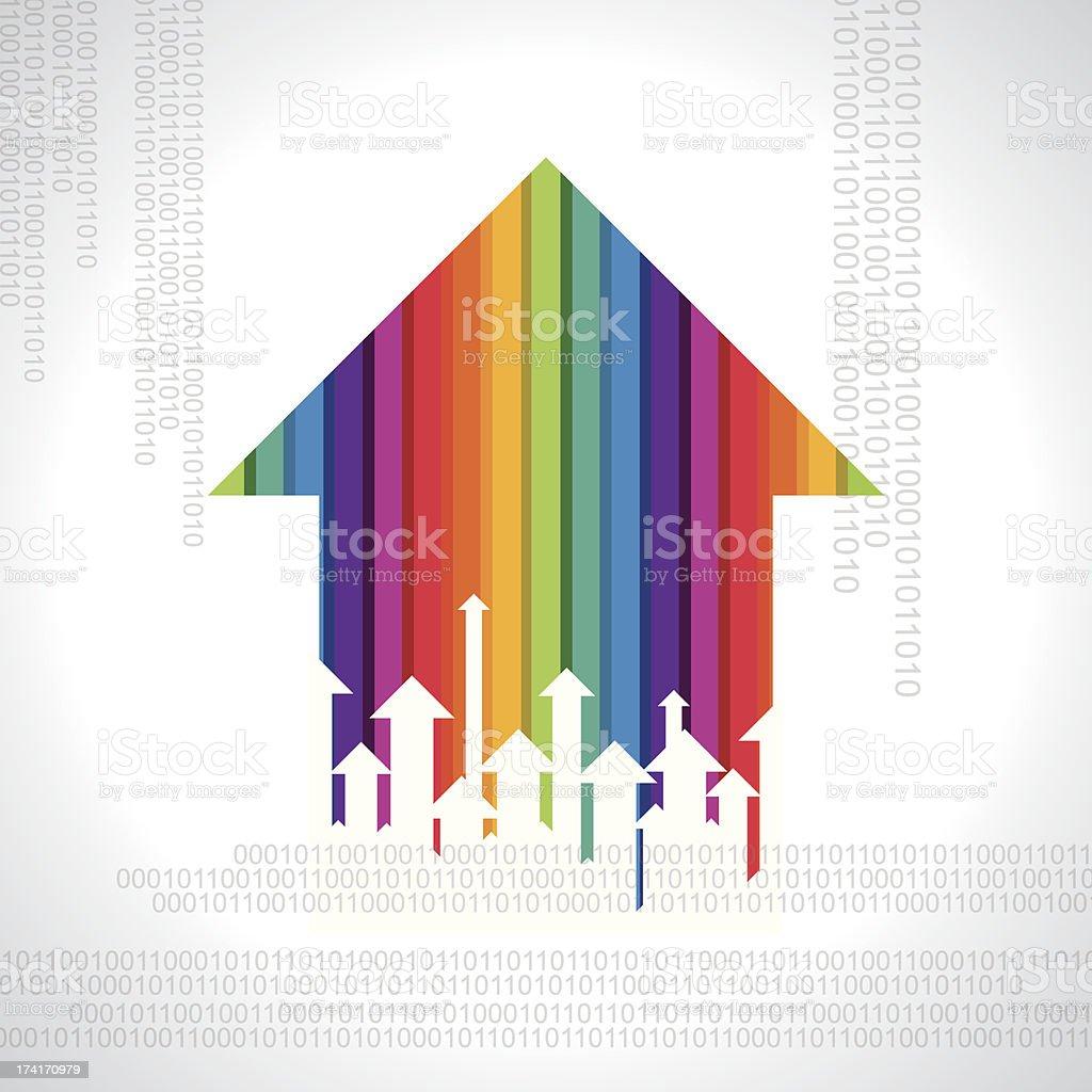 business arrow concept royalty-free stock vector art