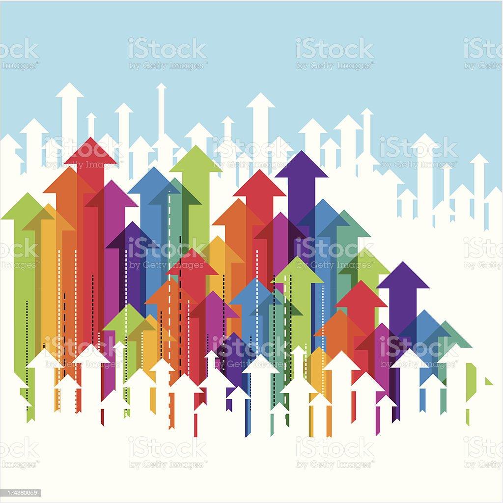 business arrow concept vector art illustration